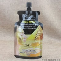Skin Care 24 k gold personality acne removing moisture to black gold mud Face mask Facial Mask  T479