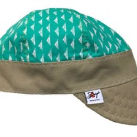 Teal Embroidered Size 7 1/4 Hybrid Welding Cap