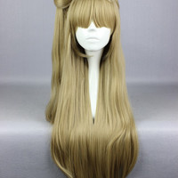 Fashion Cute Love Live! Minami Kotori 80cm Long High Quality Flaxen Synthetic Ponytail Cosplay Anime Wig,Colorful Candy Colored synthetic Hair Extension Hair piece 1pcs WIG-560A