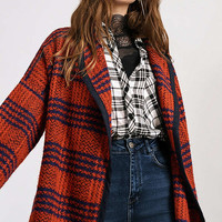 UO Blanket Wrap Plaid Coat | Urban Outfitters