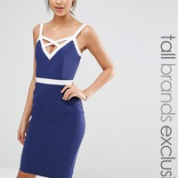 Paper Dolls Tall   Paper Dolls Tall Bodycon Dress With Contrast Strap Detail at ASOS