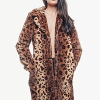 Wild Night Leopard Faux Fur Coat