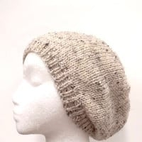 Beanie beret  mans hat and womans hat knitted  4694