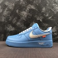 "Off-White x Nike Air Force 1 Low ""University Blue"" ""MCA Chicago"" - Best Deal Online"