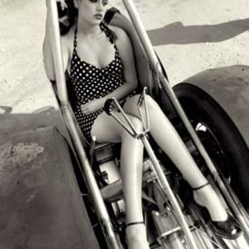 NHRA Dragster Pin Up Girl Photo by David Perry Fine Art Print