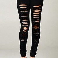 Destroyed Skinny Jeans Red Black Khaki Green Women Denim Ripped Colored Pants