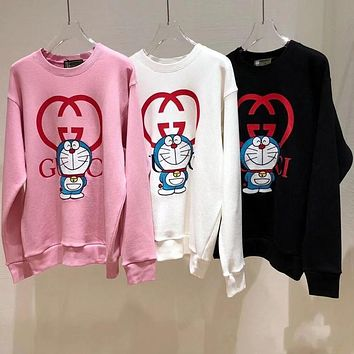 GUCCI New Doraemon robot cat round neck loose sweater