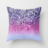 Spark Variations VIII Throw Pillow by Rain Carnival