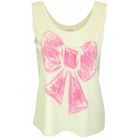 Hilary Laing | Hilary Laing Hand Painted Bow Vest Top at Spoiled Brat