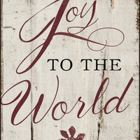 "Joy to the world handmade wooden sign -   Approx. 13""x19""x.3/4"""
