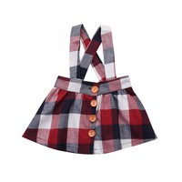 Newborn Kids Baby Girl Princess Skirts Plaid Tutu Cute Straps Skirts Cotton Clothes Outfits Girls 6M-4T