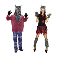 New Sexy Adult Halloween Cosplay Costumes Wolf Animal Costume For Women Man Party Uniforms Set Mascot Costume Wolf Party Dress