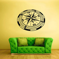 Wall Decal Mural Sticker Bedroom Decals Compass by StickersForLife