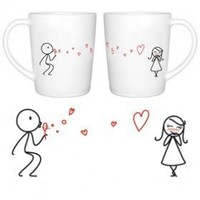 """BOLDLOFT """"From My Heart to Yours"""" His and Hers Matching Couple Coffee Mugs-Cute Couples Gifts,Valentines Gifts for Her,Valentines Gifts for Girlfriend,His and Hers Gifts,Anniversary Gifts for Her"""