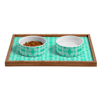 Lisa Argyropoulos Electric In Sea Green Pet Bowl and Tray