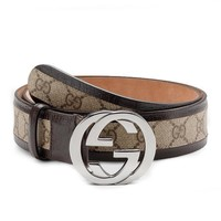 NEW Gucci Leather Belt for Men DOUBLE G Size: 36