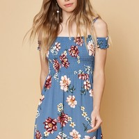 Kendall and Kylie Smocked Off-The-Shoulder Dress at PacSun.com