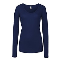 Basic Fitted Long Sleeve Scoop Neck Knit Sweater Shirt (CLEARANCE)