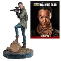 Walking Dead Sasha Figure with Collector Magazine #10 by Walking Dead