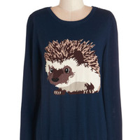 Sugarhill Boutique Critters Mid-length Long Sleeve Hedgehogs and Kisses Sweater
