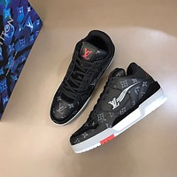 LV Men Fashion Boots fashionable Casual leather Breathable Sneakers Running Shoes12
