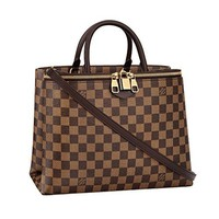 LV Louis Vuitton Damier Canvas Zipped Handbag Article:N41582 Made in France