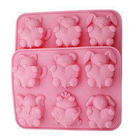 Zicome Silicone Handmade Soap and Bath Bomb Making Mold Set of 2, Animal Shape