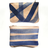 Painted Leather Card Pouch / Wallet