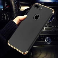 360 Degree Full Cover Red Cases For iPhone 6 6s 7 Plus Case hard pc matte protection Cover For iphone 7 7Plus 6s Phone Case Capa