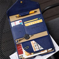 BILLTERA Women leather travel passport wallet folder men multi-purpose waterproof document cards wallets holders