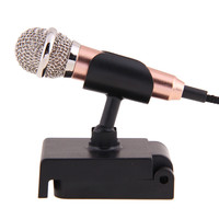 3.5mm Wired Clip On Mini Headset Microphone Mic with Bracket For PC Laptop Desktop Studio Speech NI5L