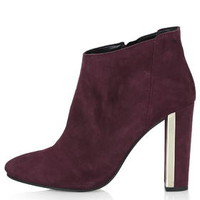 HOPE Gold Heel Plated Boots - Bordeaux