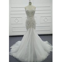 Style VNDM004 Strapless Trumpet style wedding Dresses from Darius Cordell
