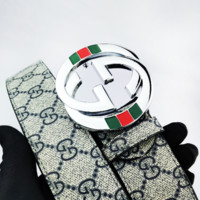 Gucci Men's fashion casual wild smooth buckle letter belt