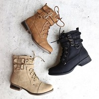 Ankle Booties Womens Shoes Fashion Lace-up Low Heel Boots