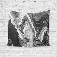 Charcoal Marble Agate Geode Unique Trendy Boho Wall Art Home Decor Unique Dorm Room Wall Tapestry Artwork
