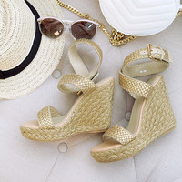 SheLEN GOLD WEDGES