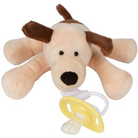 Baby Pacifier Holder - Cuddly, Soft & Fun - Your Baby Will Love This Squeezable Stuffed Animals Dog Pacifier Holder - 100% Satisfaction Guarantee! - Perfect Baby Shower Gifts and Baby Gift!