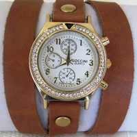 Handmade Bracelet Wrap Gold Watch. 2012 New Orlogin Style Design. 20% Off - 69 Dollars Only. FREE SHIPPING