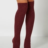 Burgundy Speckled Over-The-Knee Socks | Socks | rue21