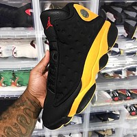 Air jordan 13 New fashion men running sneakers shoes Black