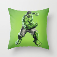 HULK Throw Pillow by Hands In The Sky