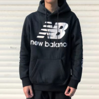 New Balance new tide brand plus velvet retro men's sports hoodie
