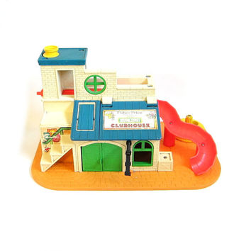 Sesame Street Clubhouse Vintage Fisher Price Play Family Little People Playground Toy