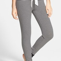 Junior Women's BP. Undercover 'Comfy Cozy' Stripe Pajama Pants