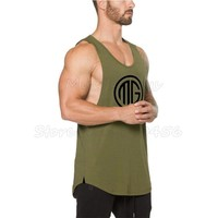 Muscleguys Brand Fitness Mens Tank Top Bodybuilding Clothes gyms Shirts Crossfit Vests Cotton Singlets Muscle Stringer tanktop