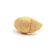 Vintage Gold Tone Rope Ring - Signed Avon