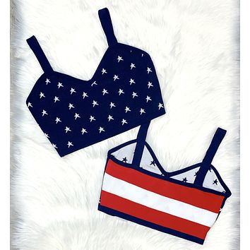 Stars & Stripes Crop Top