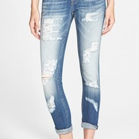 Junior Women's Vigoss 'Tomboy' Destroyed Skinny Jeans (Medium)