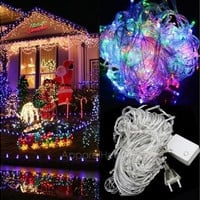 Christmas outdoor decoration 8.5m curtain icicle string led lights 220V New year Garden Xmas Wedding Party = 1931915332